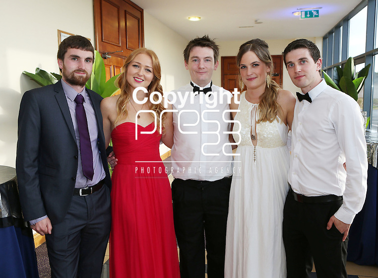 2/8/2014   (with compliments).          Alan's Sport Extravaganza Slick and Stylish Ball in the South Court Hotel, Limerick which was held in memory of Alan Feeley and in aid of the Irish Kidney Association(IKA).  Pictured are Charles Doherty, Banada, Sligo, Sheenagh Brennan, Croom, Limerick, Paul Walsh, Fethard, Tipperary, Maria McGloin, Westport, Mayo and Martin Holmes, Newport, Tipperary.Picture Liam Burke/Press 22