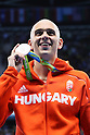 Laszlo Cseh (HUN), <br /> AUGUST 12, 2016 - Swimming : <br /> Men's 100m Butterfly Medal Ceremony <br /> at Olympic Aquatics Stadium <br /> during the Rio 2016 Olympic Games in Rio de Janeiro, Brazil. <br /> (Photo by Yohei Osada/AFLO SPORT)