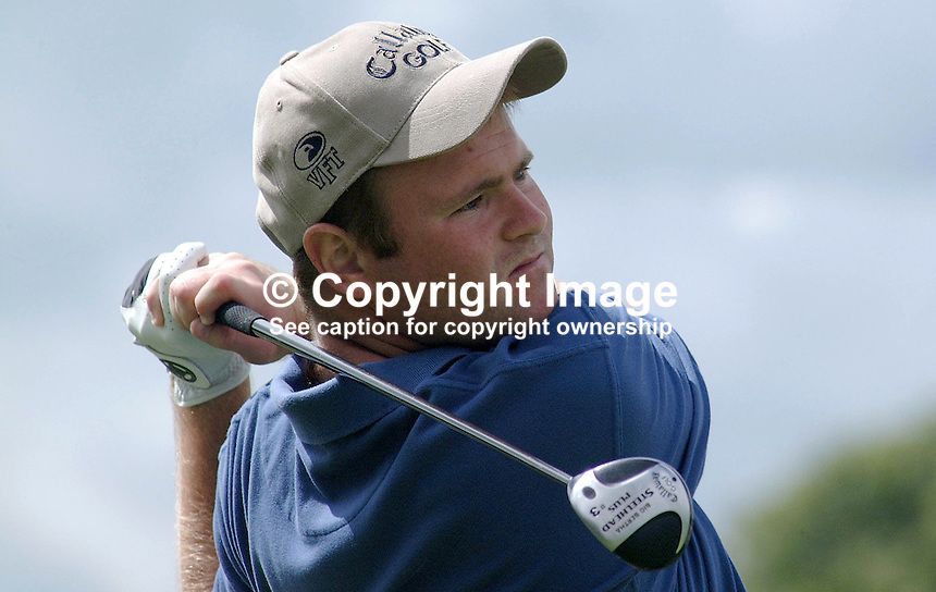 Alastair Forsyth. professional golfer, Scotland. Ref: 2001062520. Taken at Murphy's Irish Open Golf event at Fota Island between 26 and 28 June 2001...Copyright Image from Victor Patterson, 54 Dorchester Park, Belfast, UK, BT9 6RJ..Tel: +44 28 9066 1296.Mob: +44 7802 353836.Voicemail +44 20 8816 7153.Skype: victorpattersonbelfast.Email: victorpatterson@mac.com.Email: victorpatterson@ireland.com (back-up)..IMPORTANT: If you wish to use this image or any other of my images please go to www.victorpatterson.com and click on the Terms & Conditions. Then contact me by email or phone with the reference number(s) of the image(s) concerned.