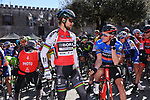 World Champion Peter Sagan (SVK) Bora-Hansgrohe and race leader Dennis Rohan (AUS) BMC Racing Team at the start of Stage 4 of the 2017 Tirreno Adriatico running 187km from Montalto di Castro to Terminillo, Italy. 11th March 2017.<br /> Picture: La Presse/Gian Mattia D'Alberto | Cyclefile<br /> <br /> <br /> All photos usage must carry mandatory copyright credit (&copy; Cyclefile | La Presse)