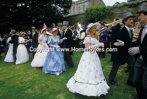 Helston Furry dance May 8th Cornwall 1980s. UK