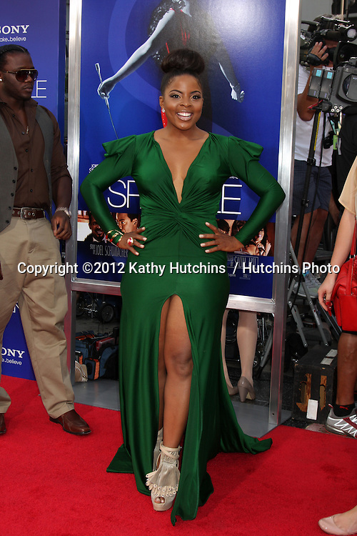 """Los Angeles - AUG 16:  Bre'ly Evans arrives at the """"Sparkle""""  Premiere at Graumans Chinese Theater on August 16, 2012 in Los Angeles, CA"""