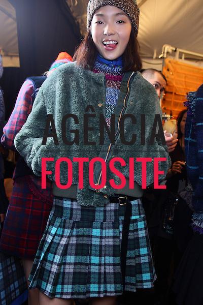 Nova Iorque, EUA &ndash; 02/2014 - Desfile de Tommy Hilfiger durante a Semana de moda de Nova Iorque - Inverno 2014.&nbsp;<br /> Foto: FOTOSITE