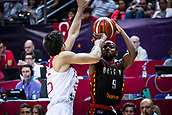 5th September 2017, Fenerbahce Arena, Istanbul, Turkey; FIBA Eurobasket Group D; Turkey versus Belgium; Point Guard Jonathan Tabu #9 of Belgium shoots for three points during the match