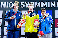 Podium<br /> CHALMERS Kyle AUS Gold Medal<br /> ANDREW Michael USA Silver Medal<br /> IZZO Giovanni ITA Bronze Medal<br /> 50 Freestyle Men Final Gold Medal<br /> Day04 28/08/2015 - OCBC Aquatic Center<br /> V FINA World Junior Swimming Championships<br /> Singapore SIN  Aug. 25-30 2015 <br /> Photo A.Masini/Deepbluemedia/Insidefoto