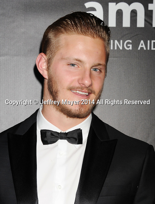 HOLLYWOOD, CA- OCTOBER 29: Actor Alexander Ludwig attends amfAR LA Inspiration Gala honoring Tom Ford at Milk Studios on October 29, 2014 in Hollywood, California.