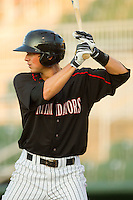 Ryan Hamme #18 of the Kannapolis Intimidators at bat against the Lakewood BlueClaws at Fieldcrest Cannon Stadium July 14, 2010, in Kannapolis, North Carolina.  Photo by Brian Westerholt / Four Seam Images