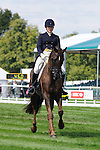 Allison Springer riding Arthur IV during day 2 of the dressage phase at the 2012 Land Rover Burghley Horse Trials in Stamford, Lincolnshire,UK.