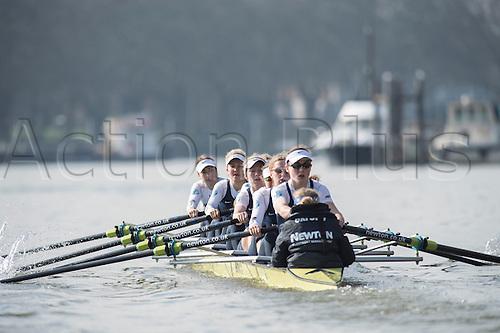 01.03.2014. CLUB FIXTURE 2014 BOAT RACE SEASON.  Oxford University Women's Boat Club v Molesey Boat Club. OUWBC crew (blue shirts):  Bow: Elizabeth Fenje;2: Alice Carrington-Windo; 3: Maxie Scheske;4: Nadine Graedel Iberg; 5: Amber De Vere; 6: Lauren Kedar; 7: Anastasia Chitty; Stroke: Laura Savarese; Cox: Erin Wysocki-Jones.