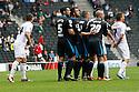 Stevenage players queue up for an attacking free-kick<br />  - MK Dons v Stevenage - Sky Bet League One - Stadium MK, Milton Keynes - 28th September 2013. <br /> © Kevin Coleman 2013