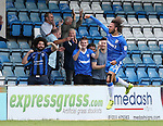 Gillingham's Bradley Dack celebrates scoring his sides opening goal during the League One match at the Priestfield Stadium, Gillingham. Picture date: September 4th, 2016. Pic David Klein/Sportimage