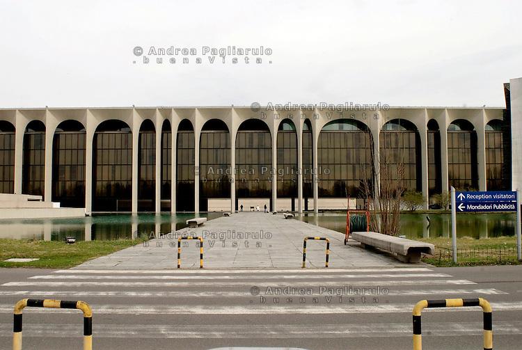 Segrate (Mi), Palazzo Mondadori.<br /> Segrate (Mi), Mondadori office building.