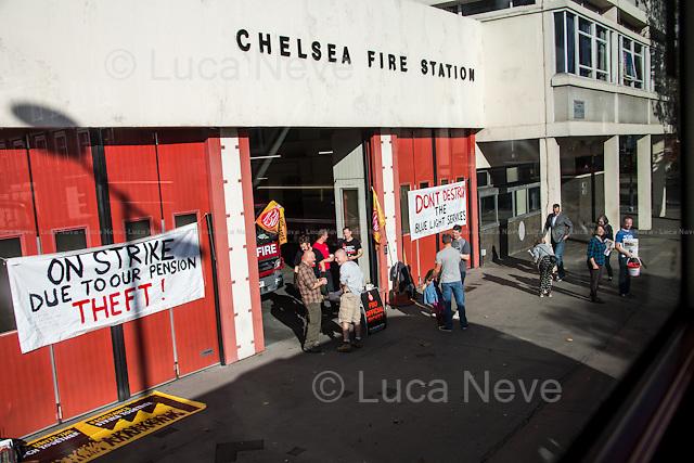 Firefighters Strike.<br /> <br /> London &amp; Londoners 2014