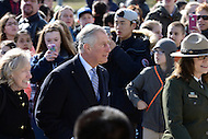 Washington, DC - March 18, 2015: His Royal Highness The Prince of Wales walks up the steps to tour the Lincoln Memorial in the District of Columbia, March 18, 2015, as part of a four-day USA visit. Prince Charles has officially visited the United States 19 times since 1970. (Photo by Don Baxter/Media Images International)