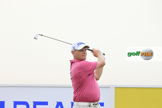 David Drysdale (SCO) on the 13th tee during Round 1 of the Open de Espana  in Club de Golf el Prat, Barcelona on Thursday 14th May 2015.<br /> Picture:  Thos Caffrey / www.golffile.ie