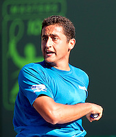 Nicolas ALMAGRO (ESP) against Andy RODDICK (USA)in the Quarter Finals of the men's singles. Andy Roddick beat Nicolas Almagro 6-3 6-3..International Tennis - 2010 ATP World Tour - Sony Ericsson Open - Crandon Park Tennis Center - Key Biscayne - Miami - Florida - USA - Wed 31st Mar 2010..© Frey - Amn Images, Level 1, Barry House, 20-22 Worple Road, London, SW19 4DH, UK .Tel - +44 20 8947 0100.Fax -+44 20 8947 0117