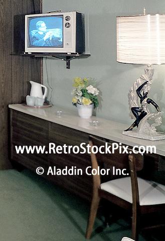 Caribbean Motel Wildwood, New Jersey, 1960's motel room furniture