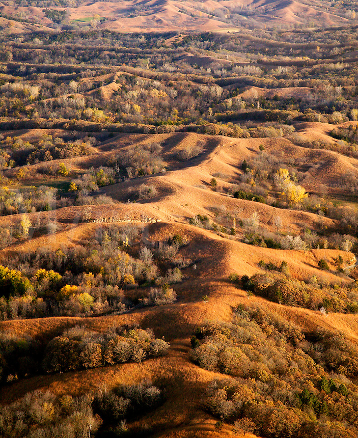 Aerial of Loess Hills, Monona County, Iowa