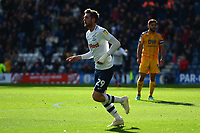 Preston North End's Tom Barkhuizen celebrates scoring his side's first goal <br /> <br /> Photographer Richard Martin-Roberts/CameraSport<br /> <br /> The EFL Sky Bet Championship - Preston North End v Wigan Athletic - Saturday 6th October 2018 - Deepdale Stadium - Preston<br /> <br /> World Copyright &not;&copy; 2018 CameraSport. All rights reserved. 43 Linden Ave. Countesthorpe. Leicester. England. LE8 5PG - Tel: +44 (0) 116 277 4147 - admin@camerasport.com - www.camerasport.com
