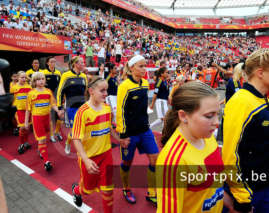 Fifa Women's World Cup Germany 2011 : Colombia - Sweden at Bayarena Leverkusen : Sara THUNEBRO..foto DAVID CATRY / Vrouwenteam.be