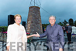 John Patrick Griffin hands back the round tower to Vera O'Sullivan for the people of Glenbeigh at the unveiling in Glenbeigh on Saturday night