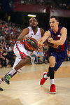 League ACB-ENDESA 201/2019.Game 38.<br /> PlayOff Semifinals.1st match.<br /> FC Barcelona Lassa vs Tecnyconta Zaragoza: 101-59.<br /> J. Berhanemeskel vs Kyle Kuric.