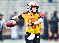 College Park, MD - APR 22, 2016: Maryland Terrapins quarterback Max Bortenschlager (18) in action during the 2017 Spring game at Capital One Field at Maryland Stadium in College Park, MD. (Photo by Phil Peters/Media Images International)