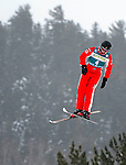 16 January 2009: Jacqui Cooper from Australia performs aerial acrobatics during the FIS Freestyle World Cup warm-ups at the Olympic Ski Jumping Facility in Lake Placid, NY, USA. Mandatory Photo Credit: Ed Wolfstein Photo. Contact: Ed Wolfstein, Burlington, Vermont, USA. Telephone 802-864-8334. e-mail: ed@wolfstein.net