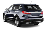 Car pictures of rear three quarter view of  a 2015 Hyundai Grand Santa Fe Executive 5 Door SUV angular rear