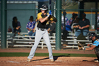 Christopher Broadbent (16) of Sky View High School in Richmond, Utah during the Baseball Factory All-America Pre-Season Tournament, powered by Under Armour, on January 13, 2018 at Sloan Park Complex in Mesa, Arizona.  (Art Foxall/Four Seam Images)