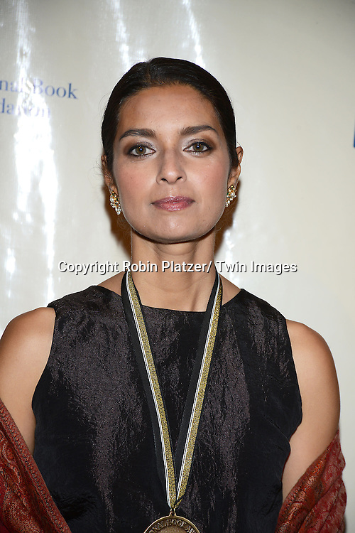 nominee Jhumpa Lahiri attends the 2013 National Book Awards Dinner and Ceremony on November 20, 2013 at Cipriani Wall Street in New York City.