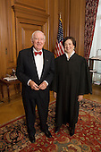 Associate Justice John Paul Stevens, (Retired) and Associate Justice Elena Kagan in the Justice's Conference Room prior to Justice Kagan's Investiture Ceremony at the U.S. Supreme Court in Washington, D.C. on Friday, October 1, 2010..Credit: Steve Petteway - USSC via CNP