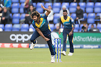 Lasith Malinga (Sri Lanka) in action during Afghanistan vs Sri Lanka, ICC World Cup Cricket at Sophia Gardens Cardiff on 4th June 2019