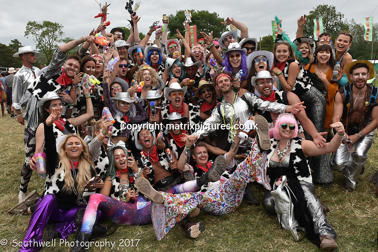 NON EXCLUSIVE PICTURE: MATRIXPICTURES.CO.UK<br /> PLEASE CREDIT ALL USES<br /> <br /> WORLD RIGHTS<br /> <br /> Day 2 of the Glastonbury Festival at Worthy Farm near the village of Pilton in Somerset, south-west England.<br /> <br /> JUNE 22nd 2017<br /> <br /> REF: RSL 171322