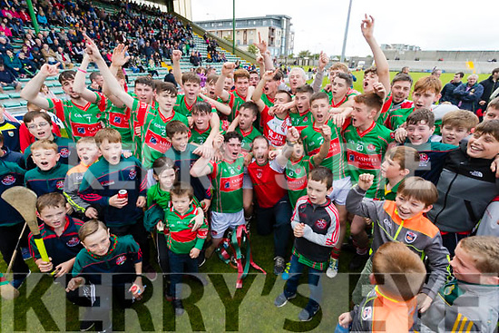 Crotta O'Neills Players celebrate winning the Minor Hurling County Final  Abbeydorney/Tralee Parnells at Austin Stack Park on Sunday.