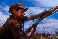 Child labor, Guarani indigenous 14-years old boy works as sugarcane cutter - Brazilian ethanol production. Mato Grosso do Sul do State.