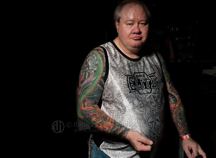 22 April 2011  -- Immersed In Ink Tattoo & Arts Festival -- Rick Jepsen of Danbury, Iowa poses for a portrait at the Immersed In Ink Festival at Harrah's Hotel and Casino in Council Bluffs. PHOTO/Daniel Johnson (Copyright 2010 Daniel Johnson)