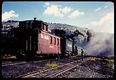 Engine &amp; caboose #04343 at Cumbres.<br /> D&amp;RGW  Cumbres, CO
