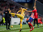 Borja Garcia Freire (R) of Girona FC fights for the ball with Yannick Ferreira Carrasco of Atletico de Madrid during the La Liga 2017-18 match between Atletico de Madrid and Girona FC at Wanda Metropolitano on 20 January 2018 in Madrid, Spain. Photo by Diego Gonzalez / Power Sport Images