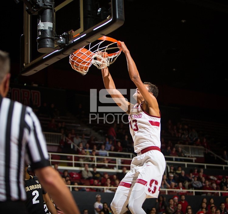 STANFORD, CA - January 26, 2019: Oscar da Silva at Maples Pavilion. The Stanford Cardinal defeated the Colorado Buffaloes 75-62.
