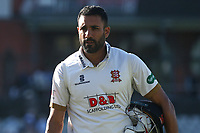 Ravi Bopara of Essex leaves the field having clinched victory for his team during Lancashire CCC vs Essex CCC, Specsavers County Championship Division 1 Cricket at Emirates Old Trafford on 11th June 2018