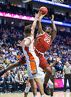 NWA Democrat-Gazette/BEN GOFF @NWABENGOFF<br /> Gabe Osabuohien, Arkansas forward, shoots in the second half vs Florida Thursday, March 14, 2019, during the second round game in the SEC Tournament at Bridgestone Arena in Nashville.