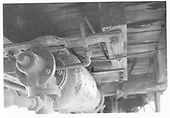 Detail of brake cylinder on D&amp;RGW high-side gondola.<br /> D&amp;RGW    ca 1972