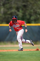 Illinois State Redbirds catcher Jean Ramirez (27) running the bases during a game against the Northwestern Wildcats on March 6, 2016 at North Charlotte Regional Park in Port Charlotte, Florida.  Illinois State defeated Northwestern 10-4.  (Mike Janes/Four Seam Images)