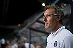 Paris Saint-Germain head coach Laurent Blanc looks on during Kitchee SC vs Paris Saint-Germain during the The Meeting of Champions on July 29, 2014 at the Hong Kong stadium in Hong Kong, China.  Photo by Aitor Alcalde / Power Sport Images