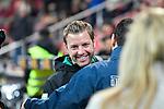 04.11.2018, Opel-Arena, Mainz, GER, 1 FBL, 1. FSV Mainz 05 vs SV Werder Bremen, <br /> <br /> DFL REGULATIONS PROHIBIT ANY USE OF PHOTOGRAPHS AS IMAGE SEQUENCES AND/OR QUASI-VIDEO.<br /> <br /> im Bild: Florian Kohlfeldt (Trainer / Interimstrainer, SV Werder Bremen) und Sandro Schwarz (Trainer, FSV Mainz)<br /> <br /> Foto © nordphoto / Fabisch