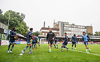 Wycombe players warm up ahead of the pre season friendly match between Aldershot Town and Wycombe Wanderers at the EBB Stadium, Aldershot, England on 22 July 2017. Photo by Andy Rowland.