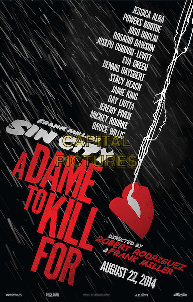 POSTER ART<br /> in Sin City: A Dame to Kill For (2014) <br /> *Filmstill - Editorial Use Only*<br /> CAP/FB<br /> Image supplied by Capital Pictures