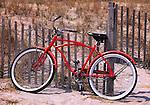 Red bike at Wrightsville Beach