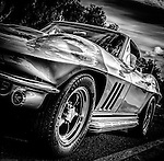 1960's Corvette Stingray in black and white